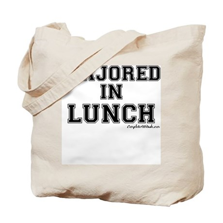 Majored In Lunch Tote Bag