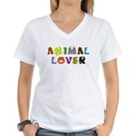 Animal Lover Women's V-Neck T-Shirt