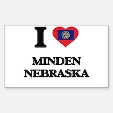 I love Minden Nebraska Decal