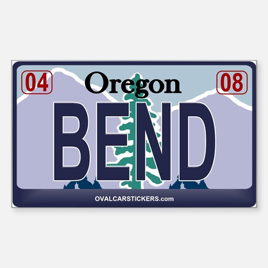 Oregon Plate - BEND Rectangle Decal