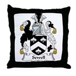 Sewell Family Crest Throw Pillow