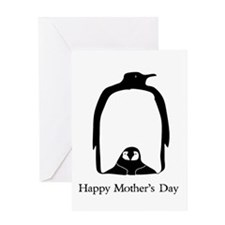 Mother's Day Penguins Greeting Cards