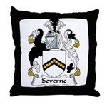 Severne Family Crest Throw Pillow