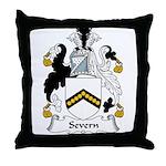 Severn Family Crest Throw Pillow