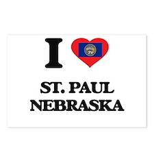 I love St. Paul Nebraska Postcards (Package of 8)