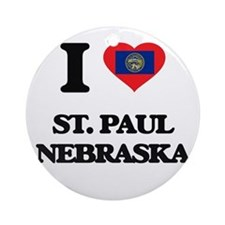 I love St. Paul Nebraska Ornament (Round)
