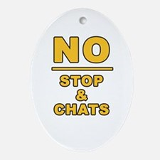 Cute Chat Oval Ornament