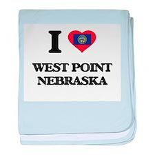 I love West Point Nebraska baby blanket