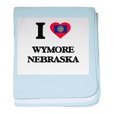 I love Wymore Nebraska baby blanket