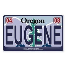 Oregon Plate - EUGENE Rectangle Decal