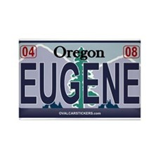 Oregon Plate - EUGENE Rectangle Magnet