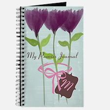 Custom Watercolor Violet Peonies Journal