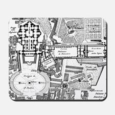 Vintage Map of The Vatican (1914) Mousepad