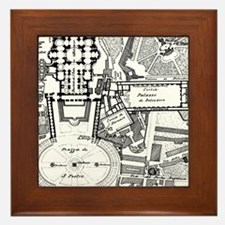 Vintage Map of The Vatican (1914) Framed Tile