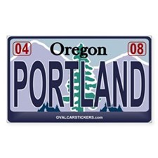 Oregon Plate - PORTLAND Rectangle Decal