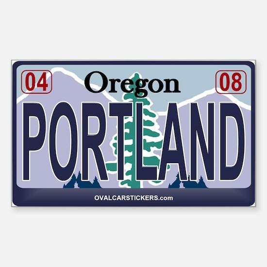 Oregon Plate - PORTLAND Rectangle Decal