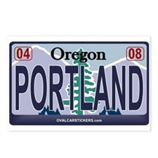 Oregon Plate - PORTLAND Postcards (Package of 8)