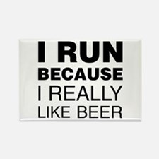 I Run For Beer Magnets