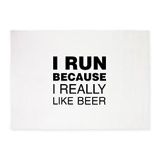I Run For Beer 5'x7'Area Rug