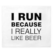 I Run For Beer King Duvet