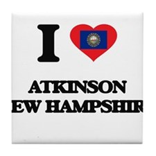 I love Atkinson New Hampshire Tile Coaster