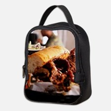 BBQ Beef Brisket Sandwich Neoprene Lunch Bag