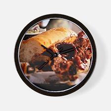 BBQ Beef Brisket Sandwich Wall Clock
