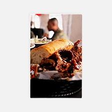 BBQ Beef Brisket Sandwich Area Rug