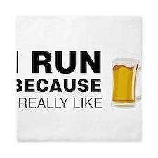 I Run For Beer Queen Duvet