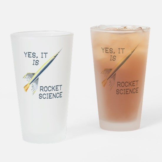 IT'S ROCKET SCIENCE Drinking Glass