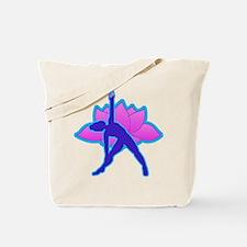 Yoga Triangle w Lotus Tote Bag
