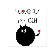 "Cute Fat cats Square Sticker 3"" x 3"""