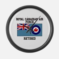Royal Canadian Air Force Retired Large Wall Clock