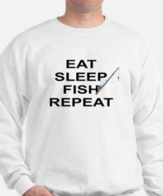 EAT SLEEP FISH REPEAT Sweatshirt