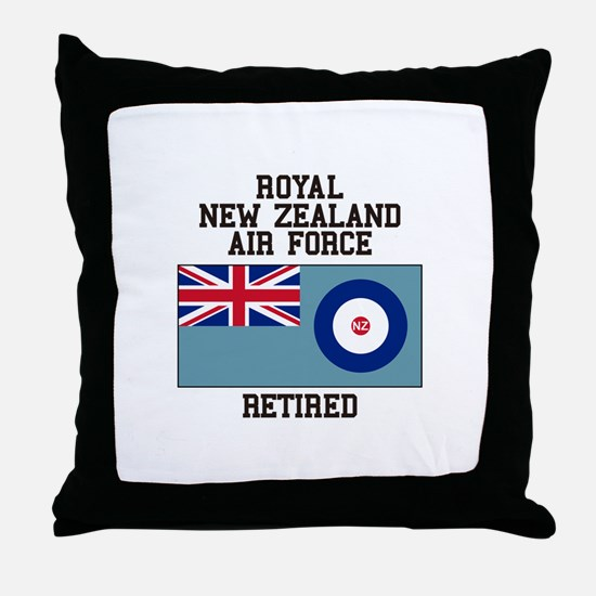 Royal New Zealand Air Force Retired Throw Pillow
