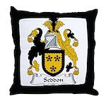 Seddon Family Crest Throw Pillow