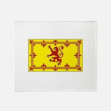 Royal Standard of Scotland Flag Throw Blanket