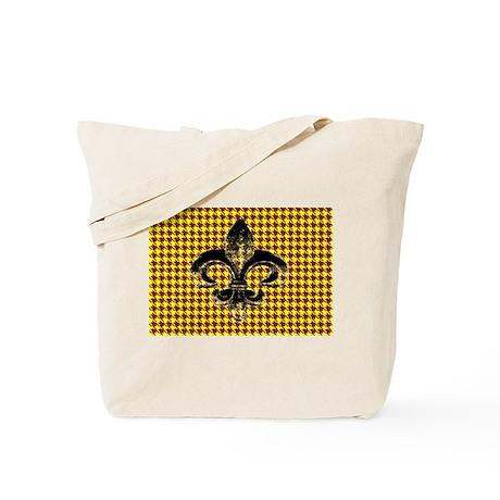houndstooth fleur Tote Bag