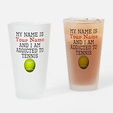 Tennis Addict Drinking Glass