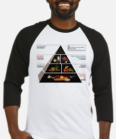 Food Pyramid Baseball Jersey