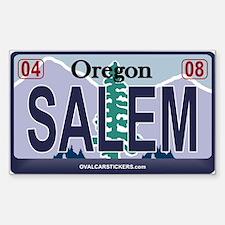 Oregon Plate - SALEM Rectangle Decal
