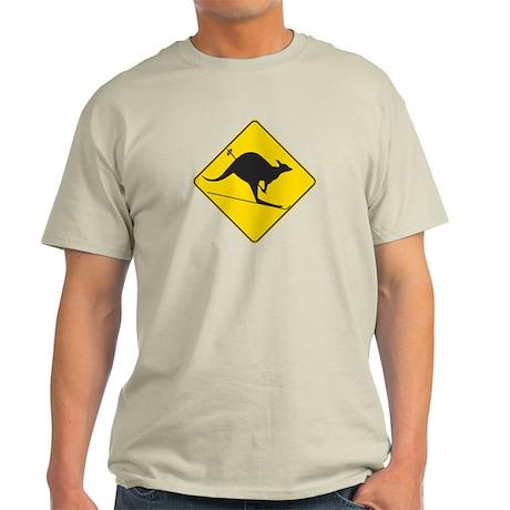 Skiing Kangaroo Light T-Shirt