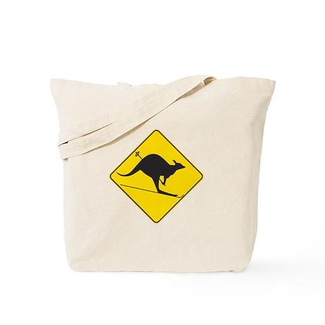 Skiing Kangaroo Tote Bag
