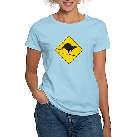 Skiing Kangaroo Women's Light T-Shirt