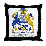 Seaman Family Crest Throw Pillow