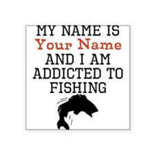 Fishing Addict Sticker