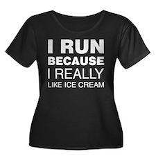 I Run Because I Like Ice Cream Plus Size T-Shirt