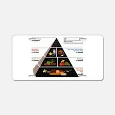 Food Pyramid Aluminum License Plate