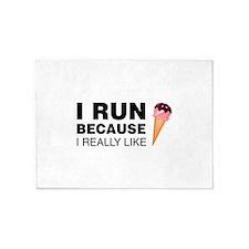 I Run Because I Like Ice Cream 5'x7'Area Rug