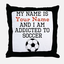 Soccer Addict Throw Pillow